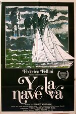 AND THE SHIP SAILS ON 1983 Federico Fellini ARGENTINE POSTER