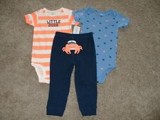 Carter's Baby Boys Crab 3pc Set Outfit Size 24 Months 24M NWT NEW Clothes 18-24