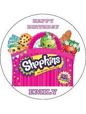 """Shopkins 7,5 """"la Carta di riso COMPLEANNO CAKE TOPPER"""
