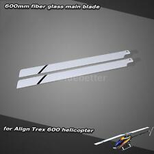 Fiber Glass 600mm Main Blades for Align Trex 600 RC Helicopter Hot R3GQ