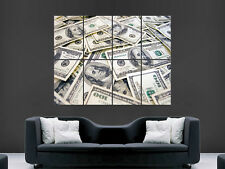 MONEY MONEY US DOLLAR CASH NOTES ART IMAGE HUGE  LARGE PICTURE POSTER GIANT