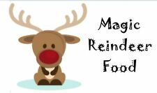 65 Mini Magic Reindeer Food Labels Stickers Christmas Design