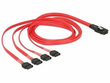 Delock Kabel mini SAS SFF-8087   4 x SATA 7 Pin 1 m 83074