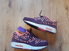 NIKE AIR MAX 1 LIBERTY LONDON QS BURGUNDY BELMONT UK8 US10.5 BRAND NEW. RARE