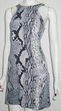 New Look BNWT Snakes Skin Stretch Bodycon Mini Dress 10 UK 38 EU Grey Mix