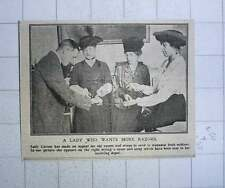 1917 Lady Carson Makes Appeal Old Razors And Strops For Wounded Irish Soldiers