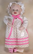 "Ashton Drake Knowles Baby Sarah Porcelain Doll 14"" With Tag"