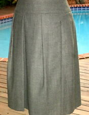 AKRIS Preppy Gray Wool Pleated Skirt $SUMMER$~$SUPER$~SALE$~$ONLY$~$45  4 S FR36