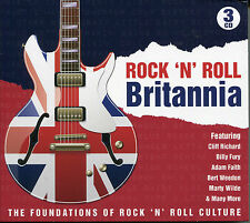 ROCK 'N' ROLL BRITANNIA - 3 CD BOX SET - BILLY FURY, ADAM FAITH & MORE
