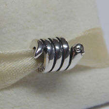 New Authentic Pandora Charm 790171 Cute Coiled Snake Box Included