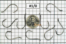 100 #1/0 Offset Octopus Circle Fishing Hooks 2X Strong Chemically Sharpened USA!