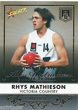 2015 Future Force All Australian (AA8) Rhys MATHIESON Brisbane