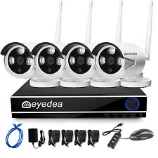 WiFi Wireless 1080P NVR IP Network 5500TVL Outdoor 4 Camera CCTV Security System