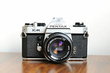 PENTAX KM  w/ Pentax 50mm f/2, 35mm SLR Camera,  ** Works, Expect for Meter **