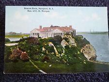 Early 1900's Beacon Rock, Res. of E.D. Morgan in Newport, RI Rhode Island PC