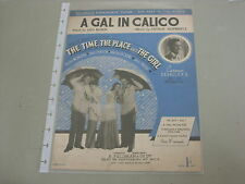 "Une fille en calicot - ""the time, the place and the girl"" sheet music"