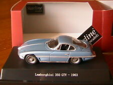 LAMBORGHINI 350 GTV 1963 CLOSED LIGHTS SILVER BLUE METAL STARLINE 560115 1/43