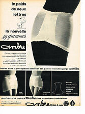 PUBLICITE ADVERTISING 034   1960    AMBRE BAN-LON  gaine culotte