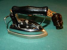 Art Deco Retro England Mini or Travel Iron by CLIX 2 Prong Bakelite Bayonet Plug