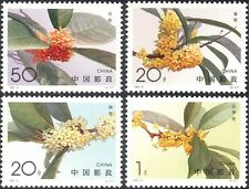 China 1995 Sweet Osmanthus/Flowers/Plants/Nature/Horticulture 4v set (n25479)