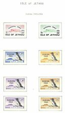 ENGLAND LOCAL STAMPS  ISLE OF JETHOU  8  STAMPS 1962/64    EUROPA  ** MNH