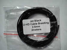 Cable Modders Expandable Braided Sleeving Jet Black 2.5mm x 2m