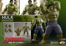 HOT TOYS AVENGERS AGE OF ULTRON HULK DELUXE 1:6 FIGURE SET ~Sealed in Brown Box~