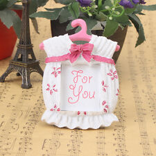Resin Pink Girl Bow Newborn Baby Shower Photo Frame Picture Holder Xmas Gift