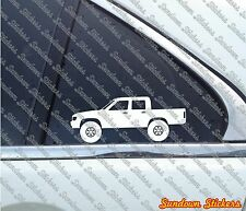 2X Lifted offroad truck stickers -for Toyota Hilux double cab pickup,N50 '88-'97