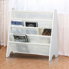 White Children's Sling Bookcase Playrooms & Bedrooms Magazine Display