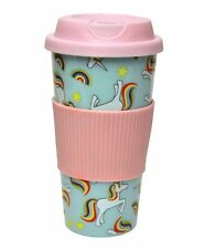 IRIS The UNICORN TRAVEL MUG - ECO CUP Plastic TRAVEL Mug & Lid - PINK Blue