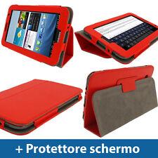 Rosso Eco Pelle Per Samsung Galaxy Tab 2 P3100 P3110 7.0 3G WiFi Cover Custodia