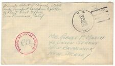 "1945 US Naval cover censored ""Free""  Active Duty"