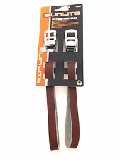 SUNLITE BICYCLE BIKE TOE CLIP STRAPS LEATHER BROWN NEW