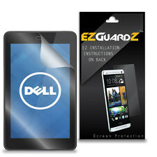 2X EZguardz Screen Protector Skin Cover Shield 2X For Dell Venue 7 2013 (Clear)