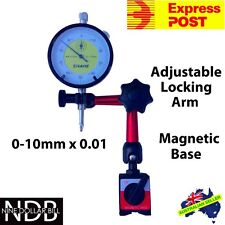 Dial Gauge Indicator 0-10mm with Magnetic Base FAST POST & WARRANTY