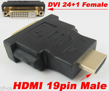 5pcs HDMI Male to DVI-D Female 24+1 Pin DVI M/F Gold Plated Converter Adapter