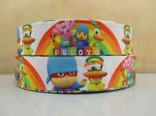 1 METRE POCOYO RIBBON SIZE 1 INCH BOWS HEADBANDS HAIR CLIPS BIRTHDAY CAKE
