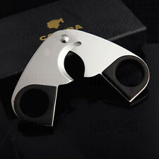 New COHIBA Stainless Steel Cigar Scissors/Cutter With Rubber Grip