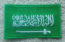 SAUDI ARABIA FLAG PATCH Embroidered Badge 4.5cm x 6cm المملكة العربية السعودية