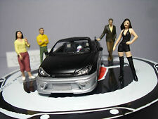 4  FIGURINES 1/43  SET  316  LE  SALON  DU  TUNING  VROOM  UNPAINTED