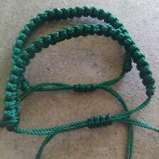 Two green friendship bracelets lucky st Patrick's day handmade(Erik's bracelets)