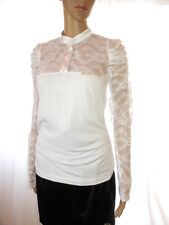 AI96 Vintage Design Wrinkle Victorian Ruffle Frill Floral Lace Occasion Blouse