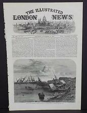 Illustrated London News Cover A2#8 Nov 1864 Effects of the Cyclone at Calcutta