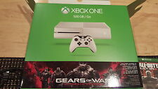 White xbox one: Gears of war ultimate edition,