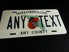 Florida ANY TEXT  Custom Personaliezed Novelty State License Plate, ALL ALUMINUM