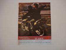 advertising Pubblicità 1998 MOTO HONDA XL 600 V TRANSALP