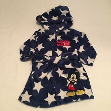 DISNEY blue stars Mickey Mouse robe dressing gown Baby boys clothes 0-3 Months