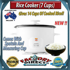 NEW! Rice Cooker (7 Cup) - Aluminium inner pot + spatula and measuring cup!