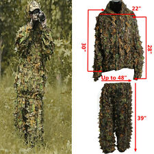 Camouflage Clothing Leaf Jungle Suit Set 3D Leafy Ghillie Suit for Hunting Bird